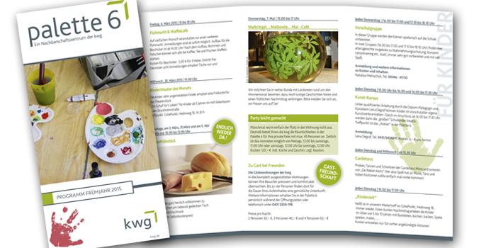 kwg Palette 6 | Flyergestaltung