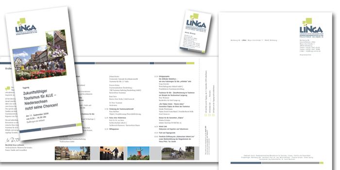 LINGA | Geschäftspapiere und Flyer