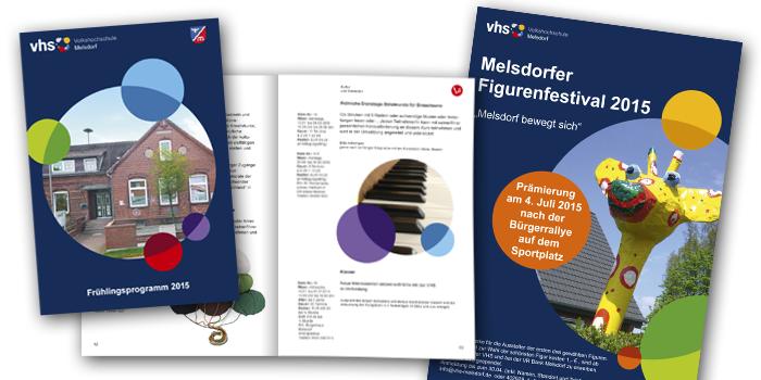 Volkshochschule Melsdorf | Programmheft und Plakate