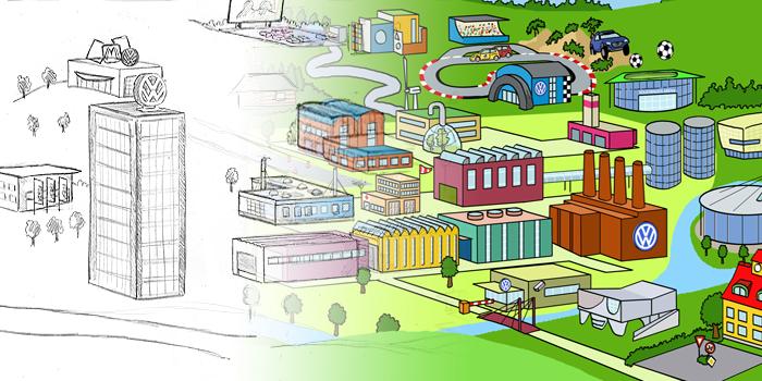 Volkswagen AG | Entwicklung und Illustration von Online-Spielen
