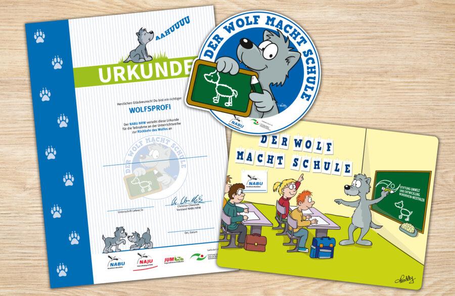 Drucksachen Der Wolf macht Schule