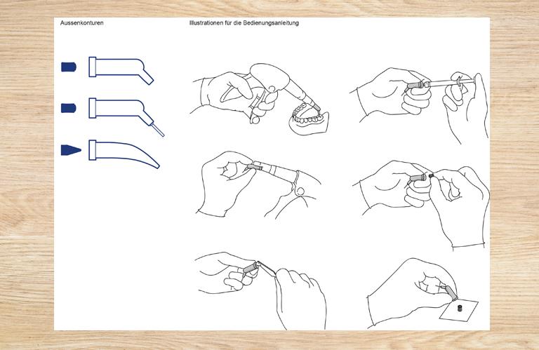 Illustrationen für Bedienungsanleitung